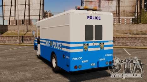 Chevrolet Step-Van 1985 NYPD pour GTA 4 Vue arrière de la gauche