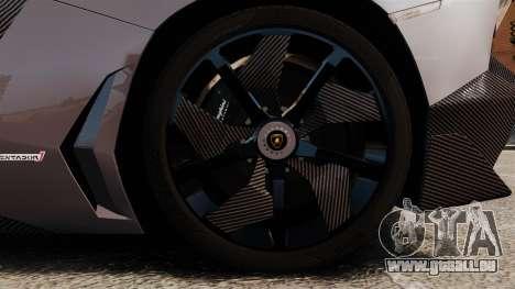 Lamborghini Aventador J Big Lambo pour GTA 4 Vue arrière