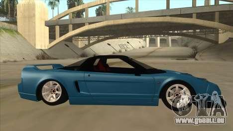 Honda NSX für GTA San Andreas zurück linke Ansicht