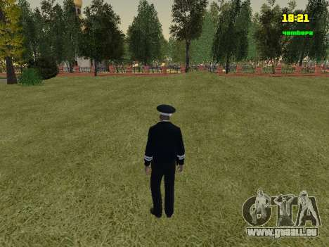 Russisch TRAFFIC POLICE Officer für GTA San Andreas dritten Screenshot