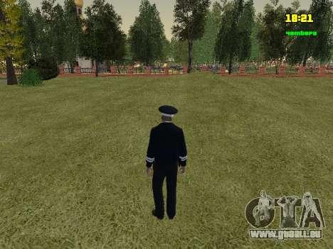 Officier de POLICE de circulation russe pour GTA San Andreas troisième écran