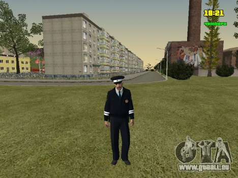 Russisch TRAFFIC POLICE Officer für GTA San Andreas zweiten Screenshot