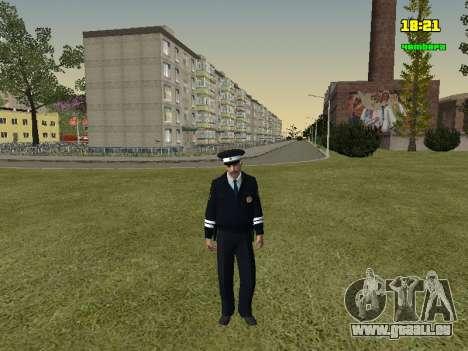 Russisch TRAFFIC POLICE Officer für GTA San Andreas zweiten Screenshot