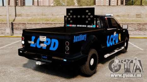 Ford F-150 v3.3 LCPD Auxiliary [ELS & EPM] v1 pour GTA 4 Vue arrière de la gauche