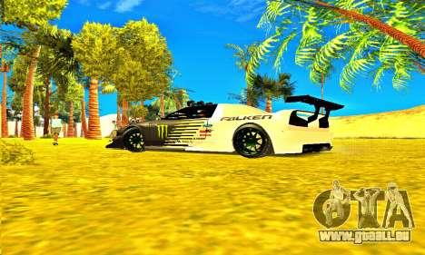 Infernus Rally Moster Energy 2012 pour GTA San Andreas vue de droite