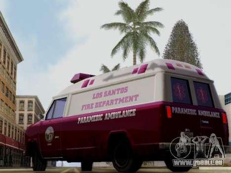 Vapid Ambulance 1986 pour GTA San Andreas laissé vue