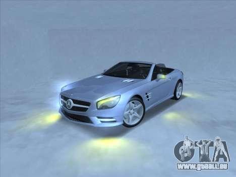 Mercedes-Benz SL500 2013 (ImVehFt v2.02) für GTA San Andreas zurück linke Ansicht