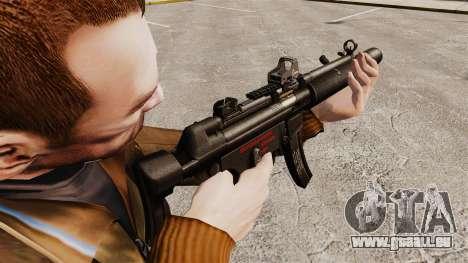 MP5SD mitraillette v1 pour GTA 4 secondes d'écran