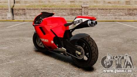 Ducati 1098 pour GTA 4 Vue arrière de la gauche