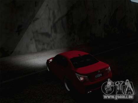 Phares Middle et high beam pour GTA San Andreas troisième écran
