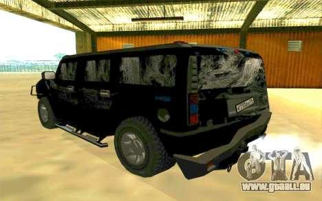 Hummer H2 für GTA San Andreas Innen