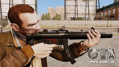 MP5SD mitraillette v1 pour GTA 4