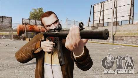 MP5SD mitraillette v1 pour GTA 4 troisième écran