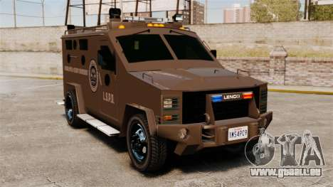 LENCO Bearcat blindée LSPD GTA V pour GTA 4