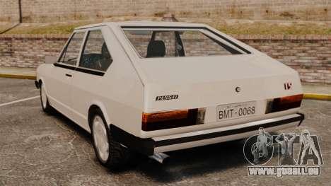 Volkswagen Passat TS 1981 pour GTA 4 Vue arrière de la gauche