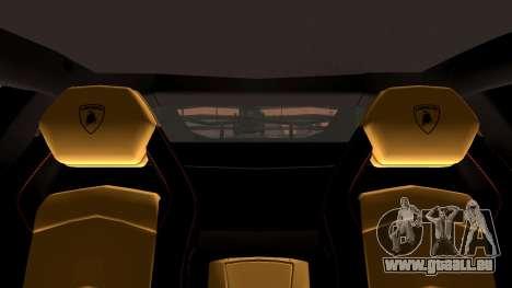 Lamborghini Aventador LP760-2 2013 pour GTA San Andreas vue de dessus