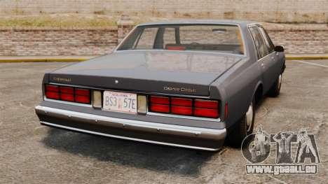 Chevrolet Caprice 1989 für GTA 4 hinten links Ansicht
