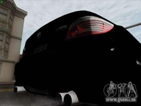 BMW M5 Hamann pour GTA San Andreas vue de dessous
