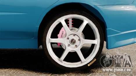 Subaru Impreza pour GTA 4 Vue arrière