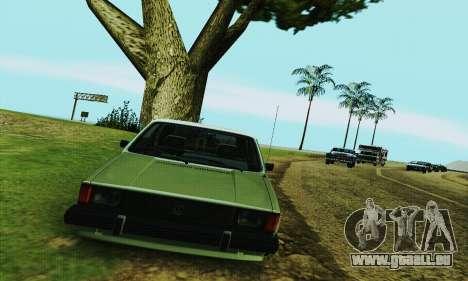Volkswagen Rabbit GTI 1986 Cult Style pour GTA San Andreas vue arrière