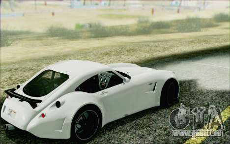 Wiesmann GT MF5 2010 pour GTA San Andreas sur la vue arrière gauche