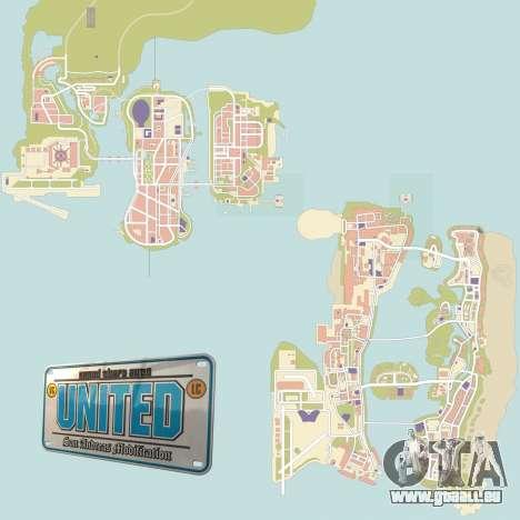 GTA United 1.2.0.1 pour GTA San Andreas deuxième écran