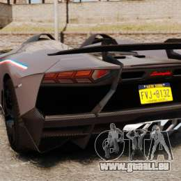 Lamborghini Aventador J Big Lambo pour GTA 4 Vue arrière de la gauche