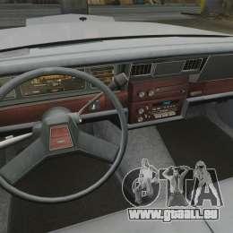 Chevrolet Caprice 1989 pour GTA 4 Vue arrière