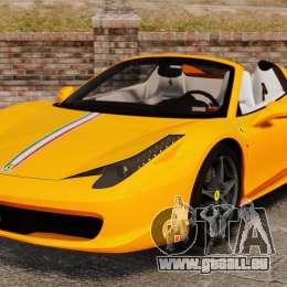 Ferrari 458 Spider 2013 Italian pour GTA 4