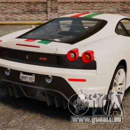 Ferrari F430 Scuderia 2007 Italian pour GTA 4 Vue arrière de la gauche