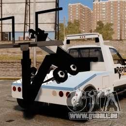 Ford F-550 Towtruck Rapid Towing [ELS] pour GTA 4 Vue arrière de la gauche