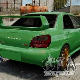 Subaru Impreza 2005 DTD Tuned pour GTA 4 Vue arrière de la gauche