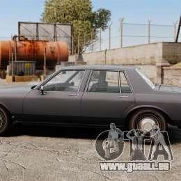 Chevrolet Caprice 1989 pour GTA 4 est une gauche