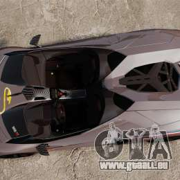 Lamborghini Aventador J Big Lambo pour GTA 4 est un droit