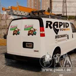 GMC Savana 2500 Rapid Towing Mechanic für GTA 4 hinten links Ansicht