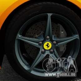 Ferrari 458 Spider 2013 Italian pour GTA 4 Vue arrière
