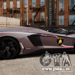 Lamborghini Aventador J Big Lambo pour GTA 4 est une gauche