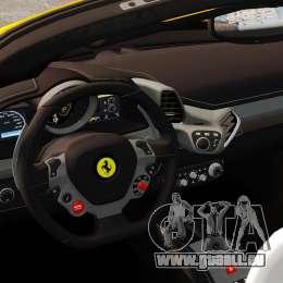 Ferrari 458 Spider 2013 Italian für GTA 4 Innenansicht
