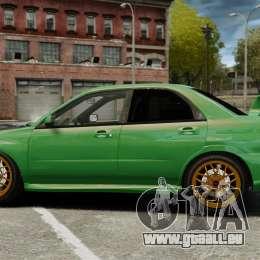Subaru Impreza 2005 DTD Tuned für GTA 4 linke Ansicht