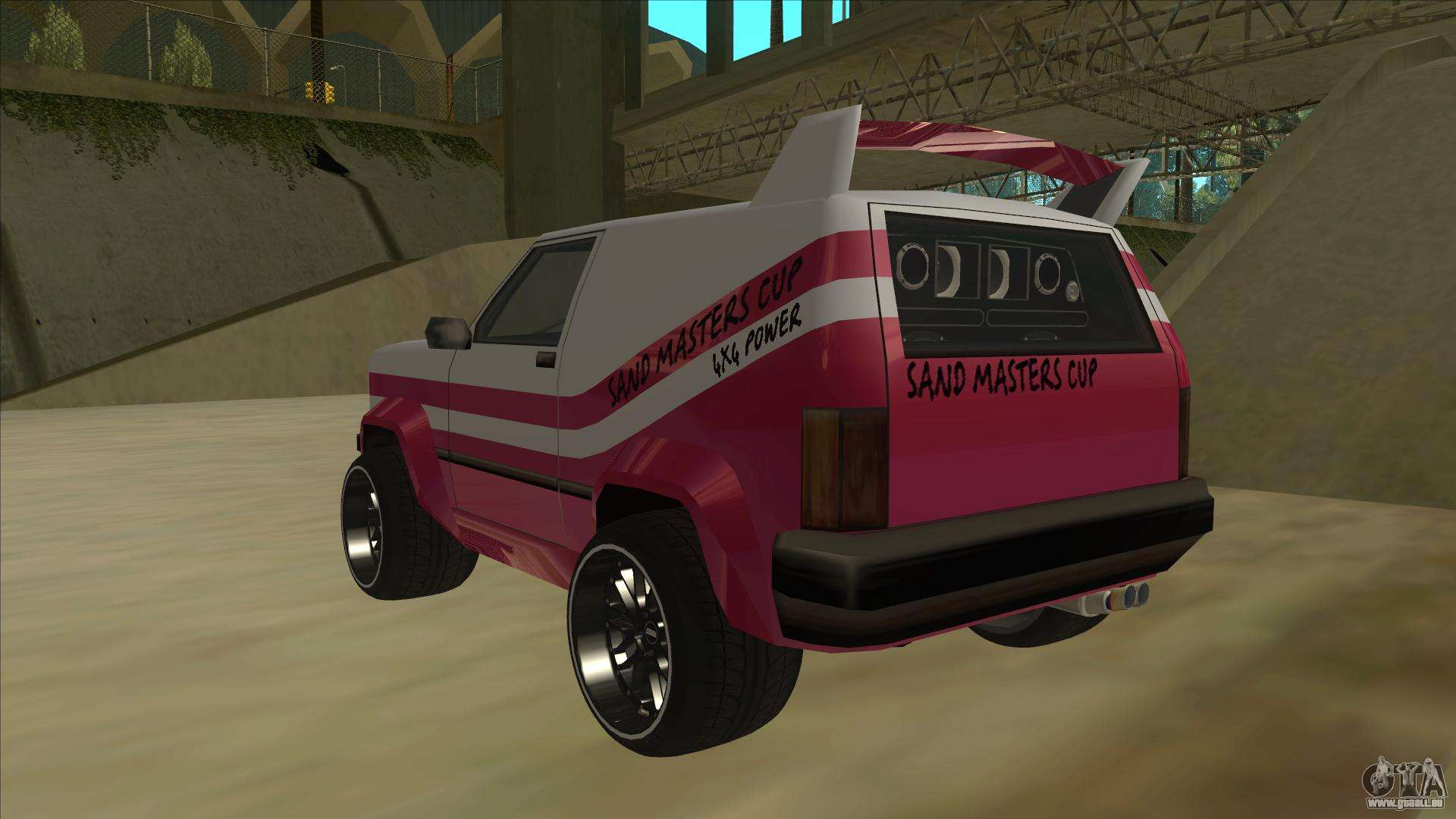 Front quarter view of an oceanic in gta: san andreas