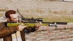Fusil de sniper AW L115A1 avec un silencieux v3