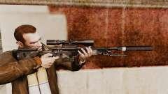 Fusil de sniper AW L115A1 avec un silencieux v5