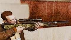 Fusil de sniper AW L115A1 avec un silencieux v7