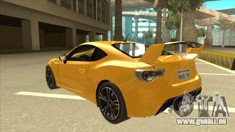 TOYOTA GT86 2JZ-GTE Black Revel für GTA San Andreas Rückansicht