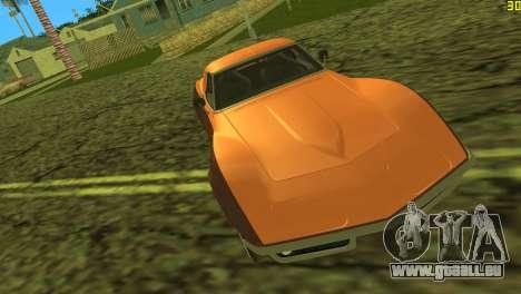 Chevrolet Corvette C3 Tuning pour une vue GTA Vice City d'en haut