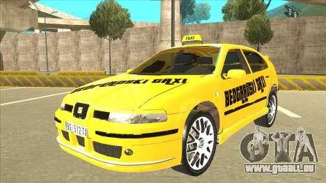 Seat Leon Belgrade Taxi pour GTA San Andreas