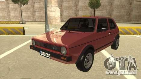 Volkswagen Golf 1 TAS für GTA San Andreas