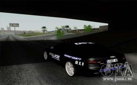 Audi RS5 2011 Police pour GTA San Andreas laissé vue