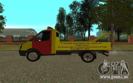 3302 Gazelle dépanneuse Business pour GTA San Andreas sur la vue arrière gauche