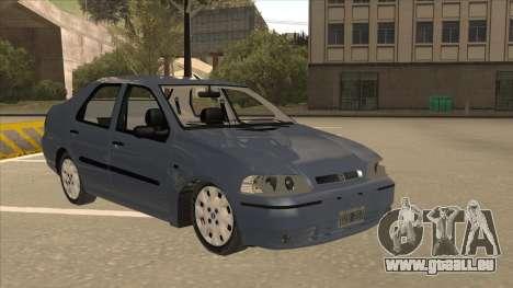 Fiat Siena Ex pour GTA San Andreas laissé vue